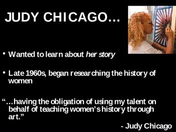 Judy Chicago Place setting project