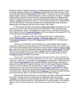 Judy Chicago Worksheet