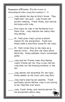 Judy Moody Around the World in 8 1/2 Days (Megan McDonald) Novel Study