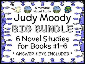 Judy Moody BIG BUNDLE (Megan McDonald) 6 Novel Studies : B