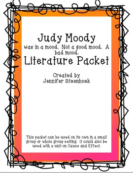 Judy Moody Bk. 1 Comprehension Packet - Making Inferences