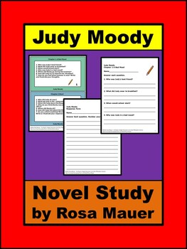 Judy Moody Book Unit