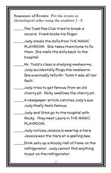 Judy Moody BUNDLE (Megan McDonald) 3 Novel Studies : Books #1 - #3  (90 pages)