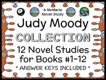 Judy Moody COLLECTION (Megan McDonald) ALL 12 Novel Studies   (375 pages)