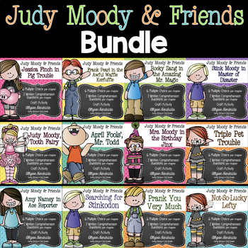 Judy Moody & Friends Book Companion Set for ALL 9 Books! Growing Bundle