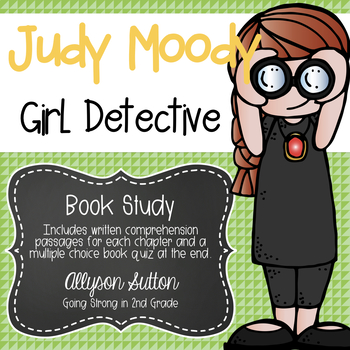 Judy Moody Girl Detective Book Study