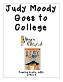 Judy Moody Goes to College Comprehension Questions