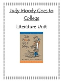 Judy Moody Goes to College Literature Unit