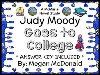 Judy Moody Goes to College (Megan McDonald) Novel Study / Reading Comprehension