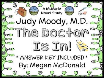 Judy Moody, M.D. The Doctor Is In! (Megan McDonald) Novel Study / Comprehension