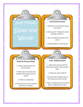 Judy Moody SAVES THE WORLD! Discussion Cards