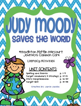 Judy Moody Saves the World (Journeys Supplemental Materials)