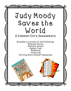 Judy Moody Saves the World (Journeys) Assessment