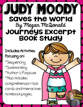 Judy Moody Saves the World: Excerpt ONLY Book Study- Organ