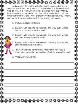Judy Moody Saves the World--Journeys Grade 3-Lesson 16