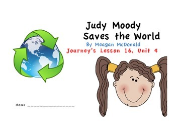 Judy Moody Saves the World - Journey's Lesson 16