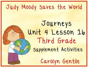 Judy Moody Saves the World Journeys Unit 4 Lesson 16 Third Grade 2014 version
