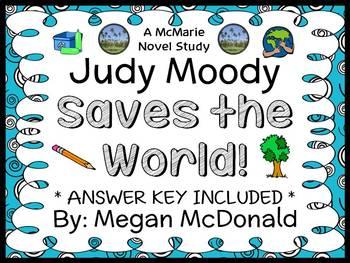 Judy Moody Saves the World! (Megan McDonald) Novel Study / Reading Comprehension