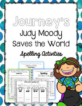 Judy Moody Saves the World - Spelling Activities