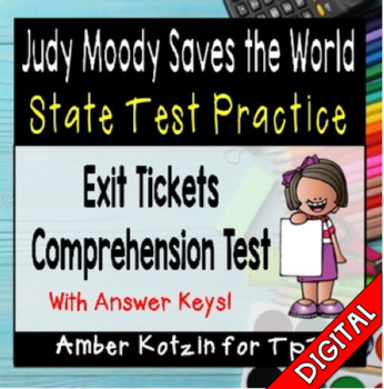 Judy Moody Saves the World State Test Prep - 3rd Grade Journeys