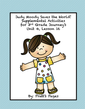 Judy Moody Saves the World Supplemental Activities Journey