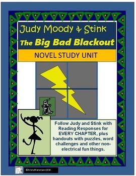 Judy Moody & Stink, Big Bad Blackout by Megan McDonald - Novel Study