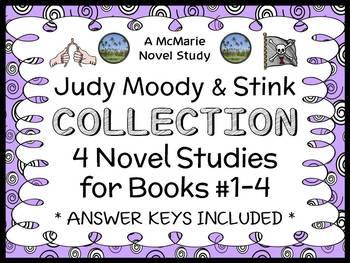 Judy Moody & Stink COLLECTION (Megan McDonald) 4 Novel Studies / Comprehension