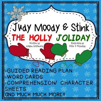 Judy Moody and Stink The Holly Joliday Guided Reading Novel study NO PREP