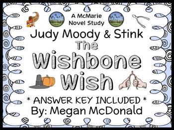 Judy Moody & Stink: The Wishbone Wish (McDonald) Novel Study / Comprehension