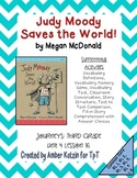 Judy Moody Mini Pack Activities 3rd Grade Journeys Unit 4, Lesson 16
