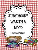 Judy Moody Was in a Mood Novel Study Packet
