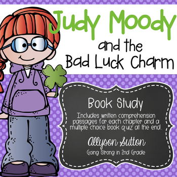 Judy Moody and the Bad Luck Charm Book Study