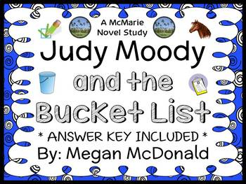 Judy Moody and the Bucket List (McDonald) Novel Study / Comprehension (30 pages)
