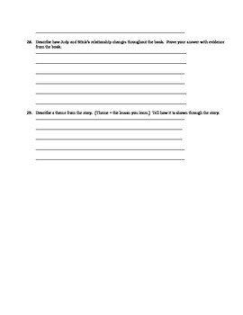 Judy Moody and the Holly Joliday test chapters 4-7
