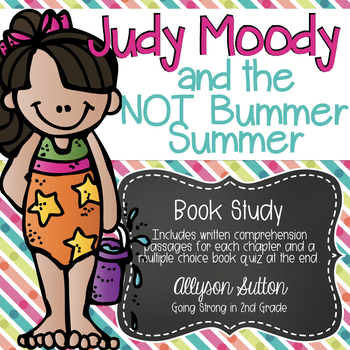Judy Moody and the NOT Bummer Summer Book Study