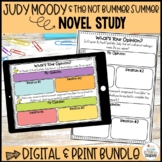 Judy Moody and the NOT Bummer Summer Novel Study
