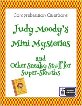 Judy Moody's Mini Mysteries Comprehension Questions