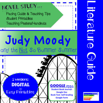 Judy Moody & the NOT So Bummer Summer Literature Guide + Digital Version