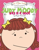 Judy Moody was in a Mood Literature Study