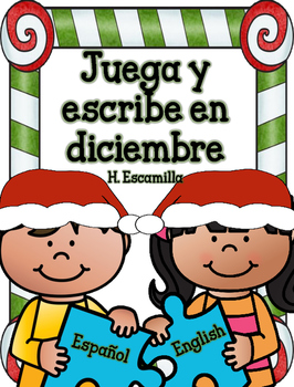 Juega y escribe en diciembre - Play and Write in Spanish