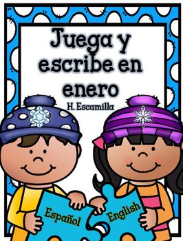 Juega y escribe en enero - Play and Write in Spanish