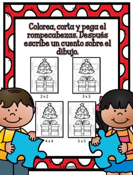 Juega y escribe en febrero- Play and Write in Spanish