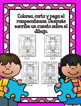 Juega y escribe en mayo - Play and Write in Spanish