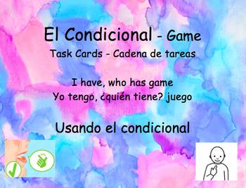 Juego El Condicional - Task Cards - I have, who has? - Yo tengo, ¿quién tiene?