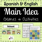 Spanish & English Main Idea Games & Activities
