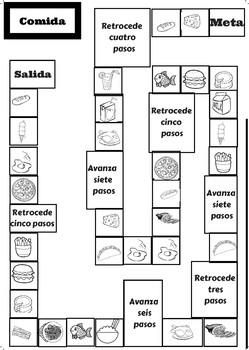 Juego: Lanza el dado y diga qué quieres comer