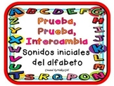 Quiz,quiz, trade: Spanish Alphabet Initial sounds -  Prueba, prueba, intercambia