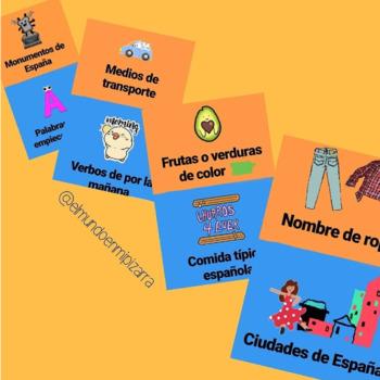 VOCABULARY GAME (SPANISH) - JUEGO VOCABULARIO (ESPAÑOL)