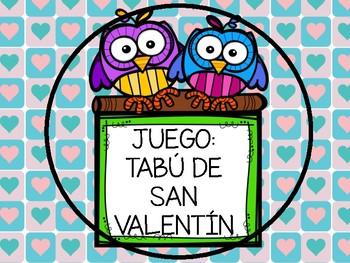 Juego Tabú San Valentín  ( ESPAÑOL )