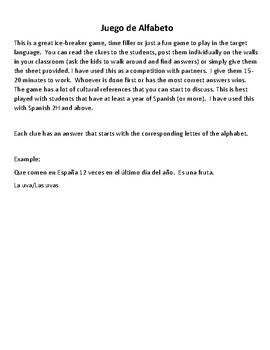 Juego de Alfabeto